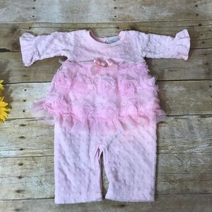 Haute Baby pink one piece outfit. Size 3-6 Months